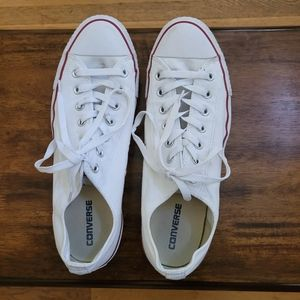 Converse All Star Low Top Sneakers White Size 12